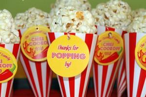 Popcorn dolci come favor di compleanno