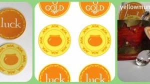 San Patrizio: monete d'oro in cartoncino