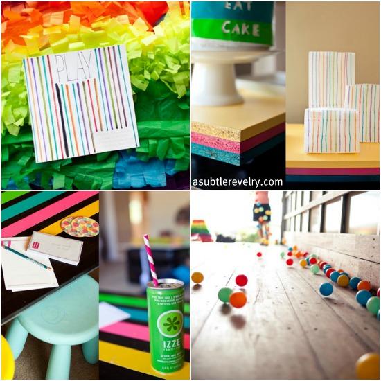 festa di compleanno tema arcobaleno