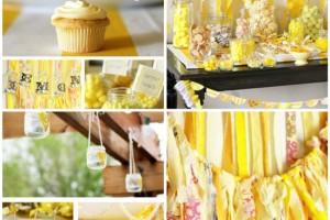 festa di compleanno colore giallo