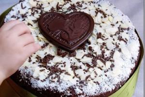 Torta di compleanno cioccolato e cocco