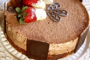 Torta di compleanno semifreddo tre cioccolati