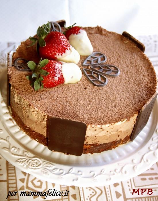 Popolare Torta di compleanno semifreddo tre cioccolati | Feste e compleanni VV39