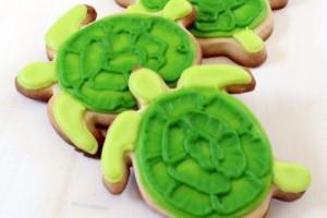 Decorare un biscotto a forma di tartaruga