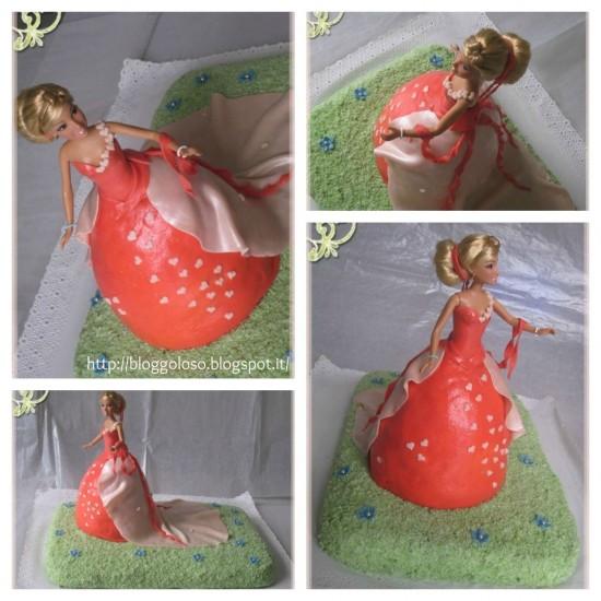 Tutorial 'La torta Barbie' di Bloggoloso