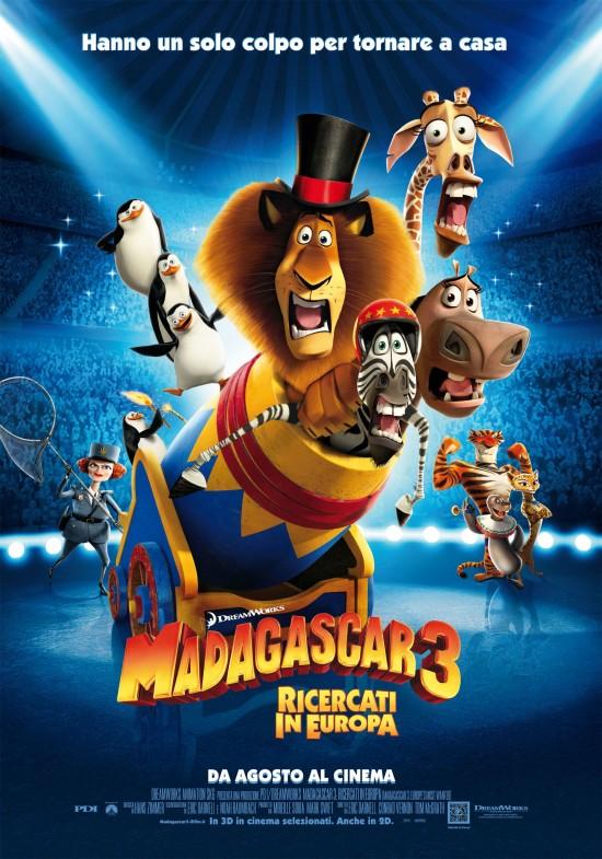 Locandina del film 'Madagascar 3'
