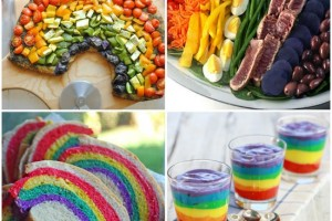 Buffet festa arcobaleno