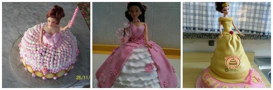 Idee per torte a forma di bambola
