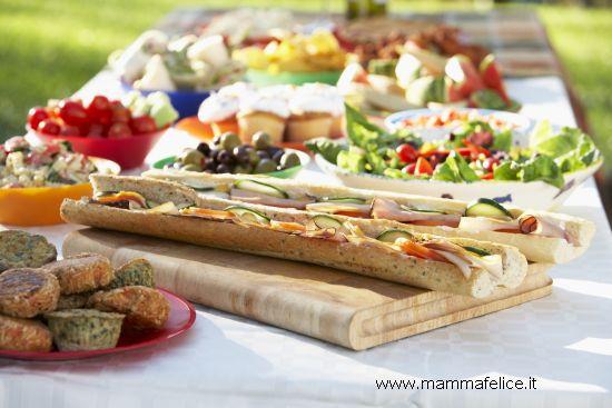 menu festa in giardino