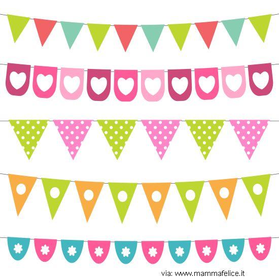 bandierine e decorazioni di compleanno