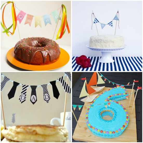 decorare una torta con le bandierine