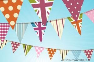 Ghirlande di compleanno con carta riciclata