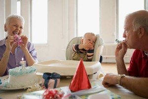 festa di compleanno con i nonni