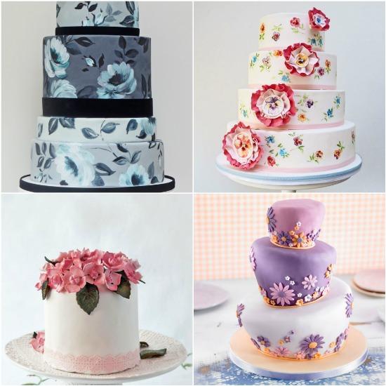 idee per torte di matrimonio con fiori