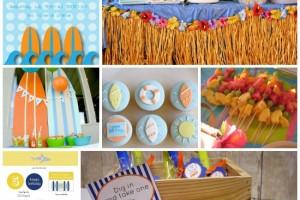 Festa compleanno tema marino SURF
