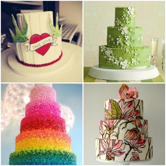 Torte di matrimonio decorate: ispirazioni