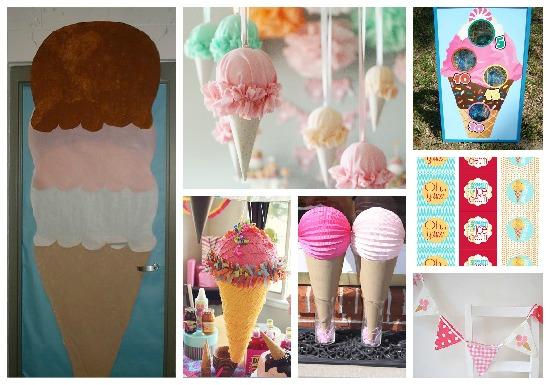 decorazioni festa gelato
