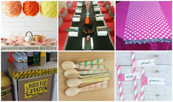 Come apparecchiare la tavola per un compleanno feste e - Tavole apparecchiate per buffet ...