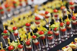 Buffet freschi di frutta e verdura
