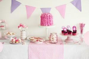 Buffet di compleanno romantico