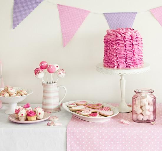 buffet-romantico-di-compleanno-in-rosa-viola-lilla  Feste e ...