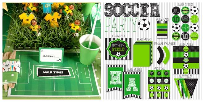 decorazioni festa calcio