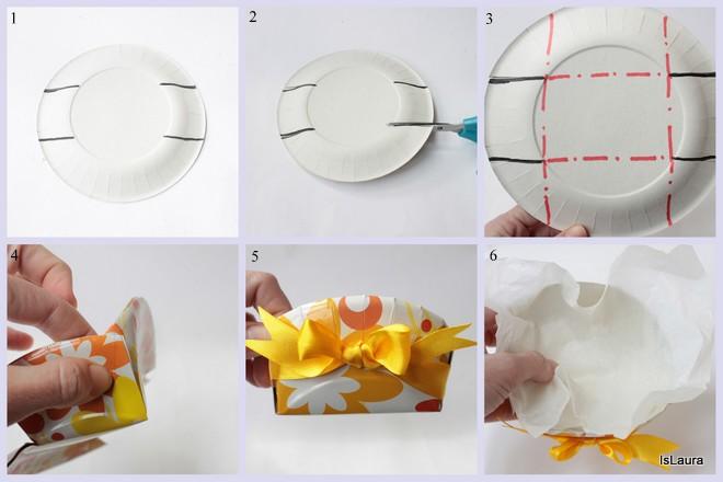 Come-realizzare-un-portabiscotti-con-un-piatto-di-carta