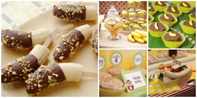 Compleanno-a-tema-banana-buffet