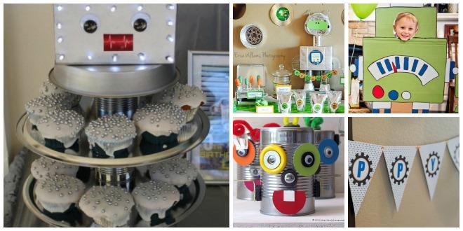 Compleanno-a-tema-robot-decorazioni