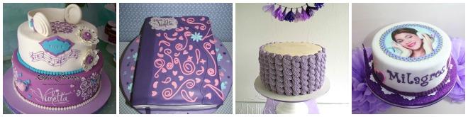 Torta compleanno violetta