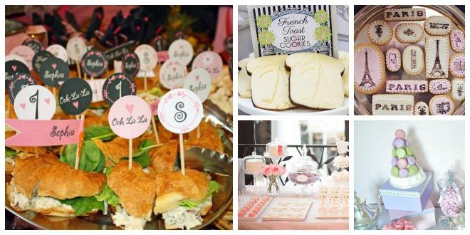 buffet festa a tema parigi