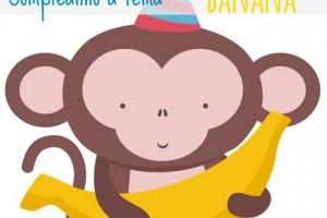 compleanno-bambini-tema-banana-banane-scimmie-monkey