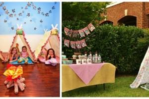 festa di compleanno all'aperto in campeggio o tenda