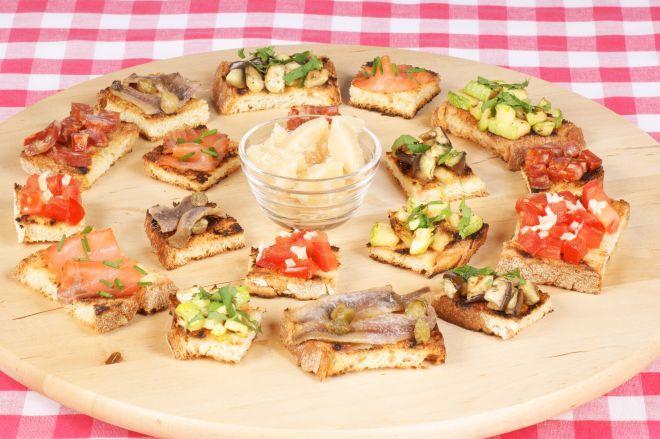 Molto Bruschette e crostoni per aperitivi | Feste e compleanni PI02