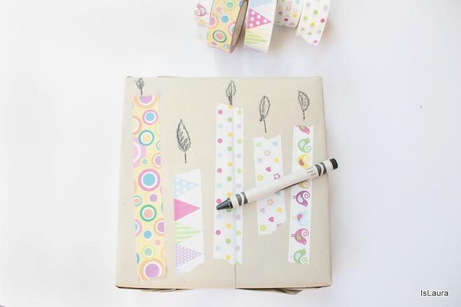 decorare-un-pacco-regalo-con-le-candeline-in-washi-tape
