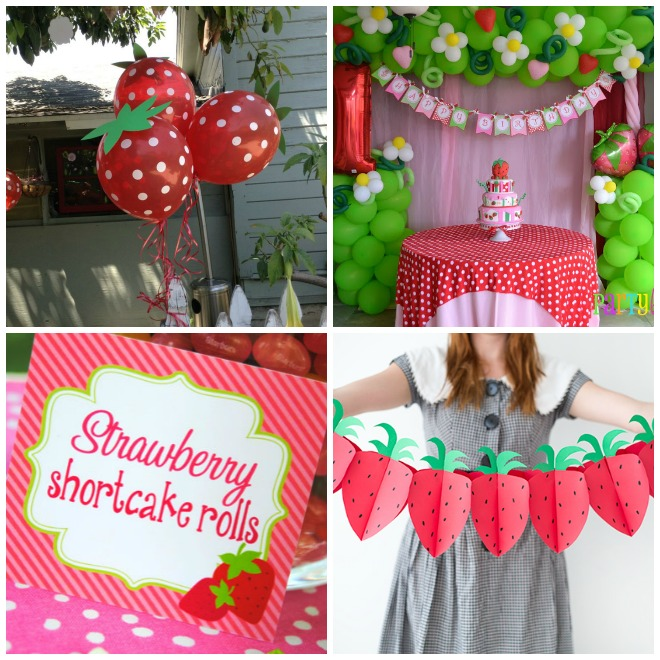 Compleanno tema fragola strawberry party feste e compleanni - Decorazioni per compleanni ...