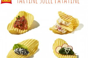 Tartine con le patatine, come Cracco