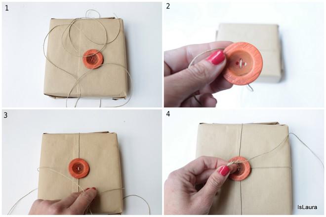 Pacchetto regalo con bottone