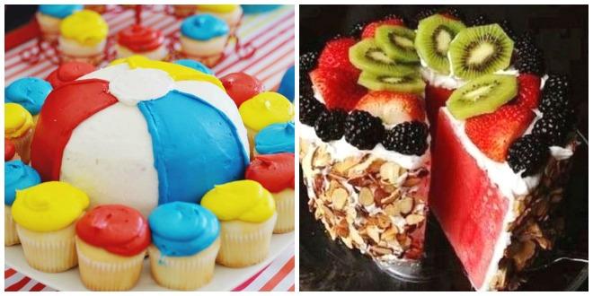Festa-di-compleanno-piscina-torta