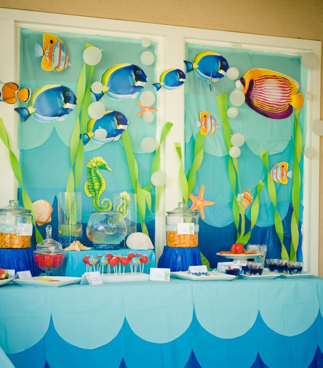 Decorazioni festa tema mare feste e compleanni for Decorazioni per feste