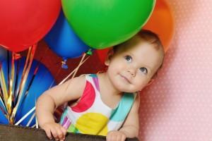 Festa di compleanno con i palloncini
