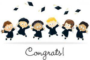 festa di fine scuola per il diploma dei bambini