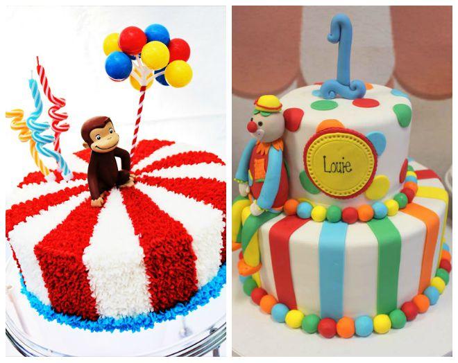 Festa di compleanno a tema circo feste e compleanni - Decorazioni per torte di carnevale ...