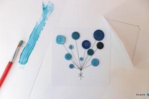 Come creare un biglietto di compleanno con i bottoni