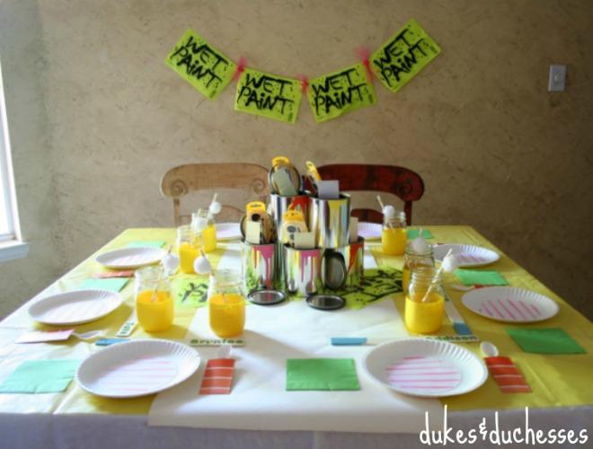 festa-a-tema-pittori-tavola