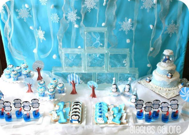 festa-compleanno-inverno-pinguino-orso-polare