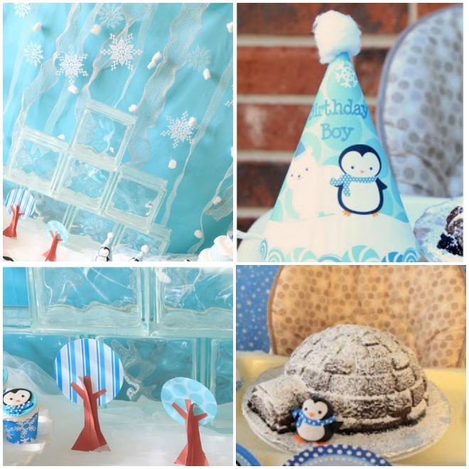 feste-compleanno-inverno-pinguini-orsi-decorazioni