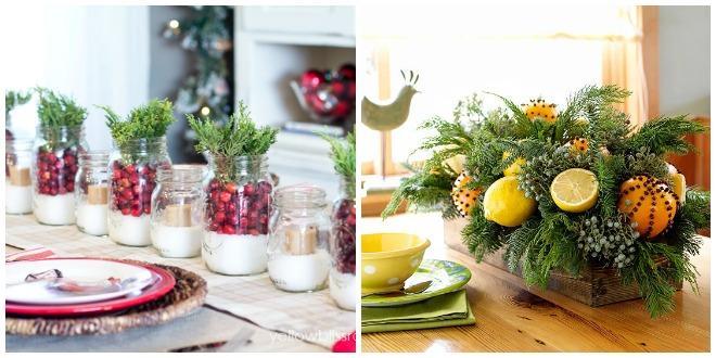 Idee per decorare la tavola di natale feste e compleanni for Idee per centrotavola di natale