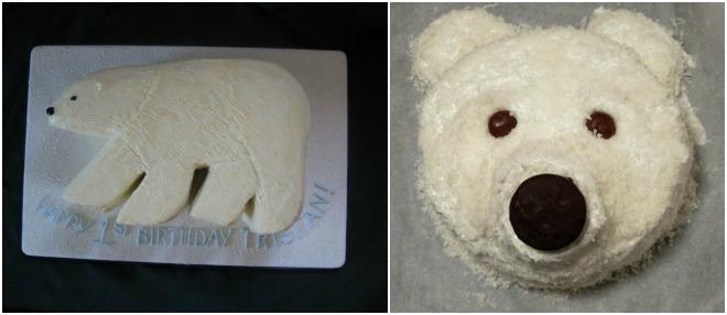 festa-a-tema-orso-polare-torta
