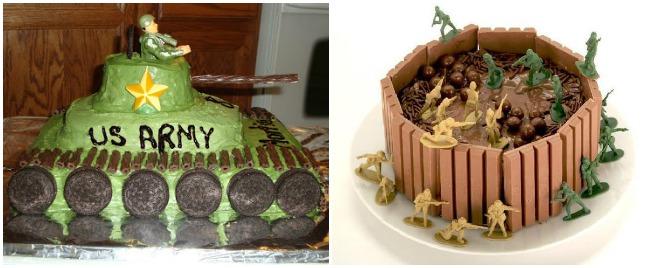 festa-a-tema-militare-torta